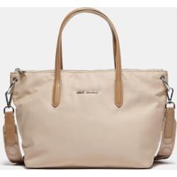 Latte Coloured Shopper Nylon Bag