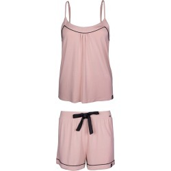 Pretty You London - Bamboo Cami and Short Pyjama Set In Pink found on Bargain Bro from Wolf & Badger US for USD $54.72