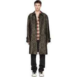 Adaptation Black and Beige Leopard Vintage Trench Coat found on MODAPINS from ssense asia-pacific for USD $1177.38