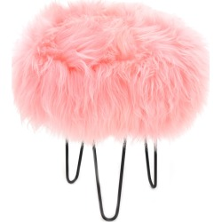 Gracie - Sheepskin Footstool Baby Pink found on Bargain Bro UK from Clippings