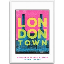 JANDO - Battersea Power Station London Town Series A3 Print