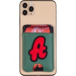 Laines London - Customised Leather Card Holder Sticker - Green / Red found on Bargain Bro from Wolf and Badger for £42