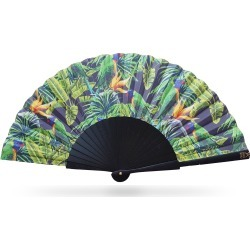 Khu Khu - Green Parakeet Hand Fan found on Bargain Bro UK from Wolf and Badger