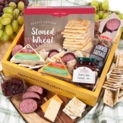 Gourmet Meat and Cheese Sampler Care Package