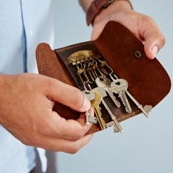 Personalised Buffalo Leather Key Holder
