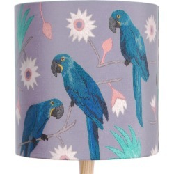 Katie & the Wolf - Macaws Lampshade found on Bargain Bro UK from Wolf and Badger