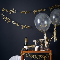 Gold Sparkle Party Banner