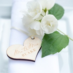 Personalised Mr & Mrs Wooden Heart Tags, 20 pk found on Bargain Bro India from hardtofind.com.au for $61.14