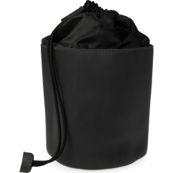 VIDA VIDA - Luxe Black Leather Drawstring Wash Bag found on Bargain Bro UK from Wolf and Badger