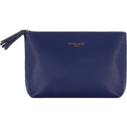 Fenella Smith - Navy Blue Vegan Leather Wash Bag found on Bargain Bro UK from Wolf and Badger