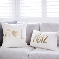 Personalised Wedding Date Cushion Set found on Bargain Bro India from hardtofind.com.au for $66.37
