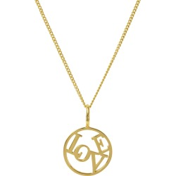 Katie Mullally - Love Medallion Yellow Gold Plated Necklace found on MODAPINS from Wolf & Badger US for USD $311.00