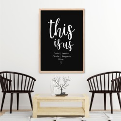 This Is Us Family Wall Art Print - Custom Colour found on Bargain Bro Philippines from hardtofind.com.au for $33.75