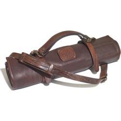 Personalised Handmade Knife Roll in Dark Brown