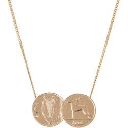 Katie Mullally - Double Irish 6D Coin Necklace In Rose Gold Plate found on MODAPINS from Wolf and Badger for USD $230.72
