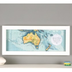 Personalised hand drawn Australia map print found on Bargain Bro India from hardtofind.com.au for $119.18