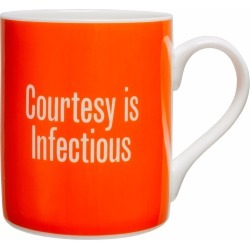 Plinth - Courtesy Is Infectious Mug found on Bargain Bro UK from Wolf and Badger