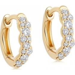 Astley Clarke - Mini Interstellar Diamond Hoop Earrings found on MODAPINS from Wolf & Badger US for USD $989.00