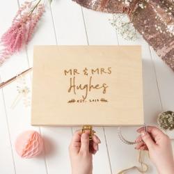 Personalised Couple's Keepsake Box found on Bargain Bro India from hardtofind.com.au for $63.85