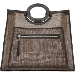 Fendi Brown Mesh Large Forever Fendi Tote found on Bargain Bro India from ssense asia-pacific for $2175.36