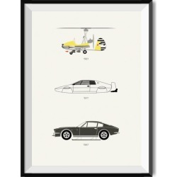 Live and Let Drive - James Bond Poster