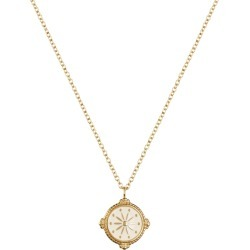Florence London - Life Compass Necklace Gold And Cream
