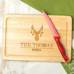 Personalised reindeer family chopping board found on Bargain Bro India from hardtofind.com.au for $43.20
