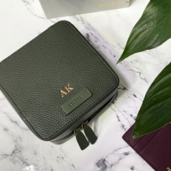 Personalised Men's Henson Leather Travel Tech Case