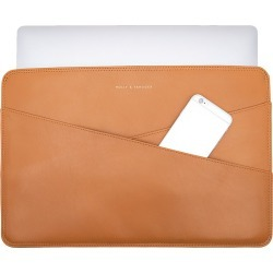 Holly & Tanager - 15 Inch Leather Laptop Sleeve In Caramel