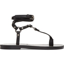 Isabel Marant Black Joxy Elegant O-Ring Sandals