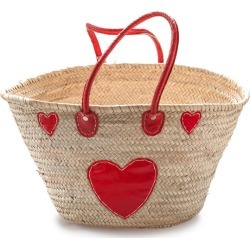 Classic palm basket medium with red heart found on Bargain Bro Philippines from hardtofind.com.au for $54.61