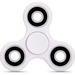 Turbo Tri Fidget Spinner in White