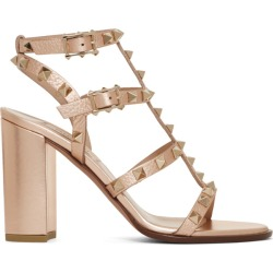 Valentino Pink Valentino Garavani Rockstud Heeled Sandals