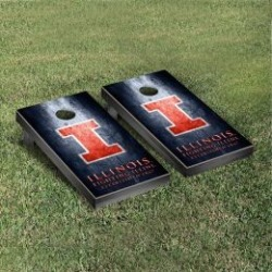 Illinois Fighting Illini Cornhole Game Set Metallic-Look