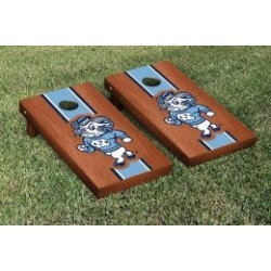 North Carolina Tar Heels Cornhole Game Set Rosewood Stained Stripe Ram