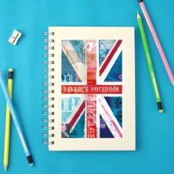 Personalised Union Jack notebook