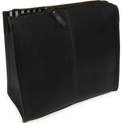 VIDA VIDA - Slim Jim Black Leather Wash Bag found on Bargain Bro from Wolf & Badger US for USD $53.96