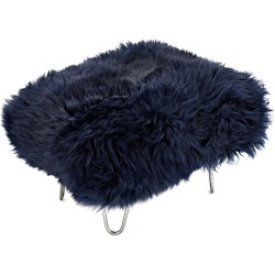 Sara - Sheepskin Footstool Navy found on Bargain Bro UK from Clippings