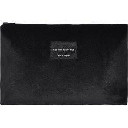 ONE NINE EIGHT FIVE - Black Velvet Zip Pouch Large found on Bargain Bro India from Wolf & Badger US for $71.00