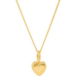 Katie Mullally - Beaten Heart Yellow Gold Plate Necklace found on MODAPINS from Wolf and Badger for USD $192.27