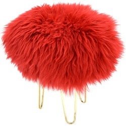 Nina - Sheepskin Footstool Dragon Red found on Bargain Bro UK from Clippings