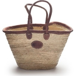 Classic palm basket with leather trim found on Bargain Bro Philippines from hardtofind.com.au for $54.61