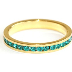 Gold crystal stacking ring (various colours)