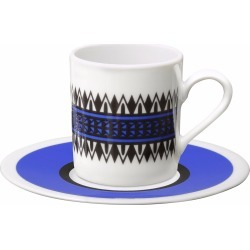 SOPHIA-ENJOY THINKING - Espresso Cup & Saucer Geometric found on Bargain Bro UK from Wolf and Badger