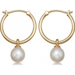 Astley Clarke - Vera Pearl Drop Hoop Earrings found on MODAPINS from Wolf & Badger US for USD $250.00
