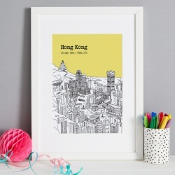 Personalised Hong Kong Print