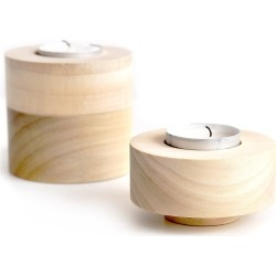 Trick - Domino Tealight Set Of 3 Natural