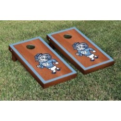 North Carolina Tar Heels Cornhole Game Set Rosewood Stained Border