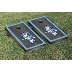 North Carolina Tar Heels Cornhole Game Set Onyx Stained Border