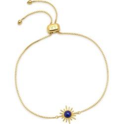 Lola Rose London - Celestial Sunburst Stud Slider Bracelet In Lapis Lazuli found on Bargain Bro from Wolf & Badger US for USD $109.44